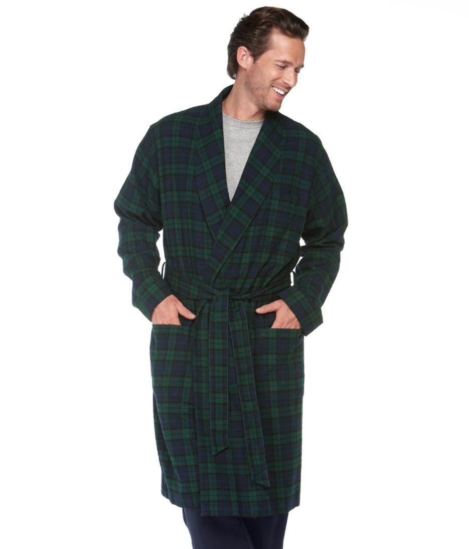 Men's Scotch Plaid Flannel Robe