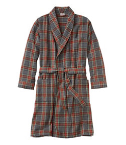 Men's Scotch Plaid Flannel Robe
