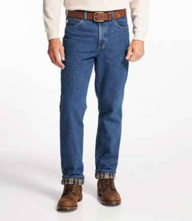 Men's Double L Jeans, Flannel-Lined, Classic Fit