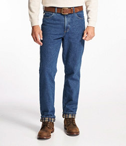 Double L Jeans, Classic Fit Flannel-Lined