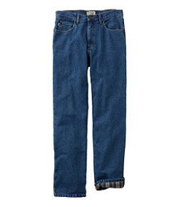 Men's Double L Jeans, Classic Fit Flannel-Lined
