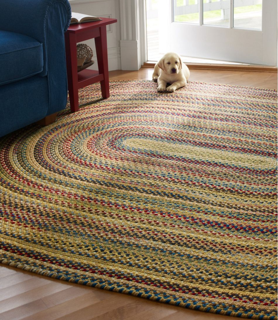 L Bean Braided Wool Rug Oval