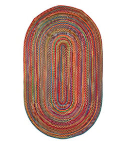 L.L.Bean Braided Wool Rug, Oval
