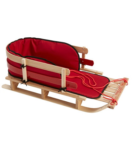 Kids Pull Sled And Cushion Set