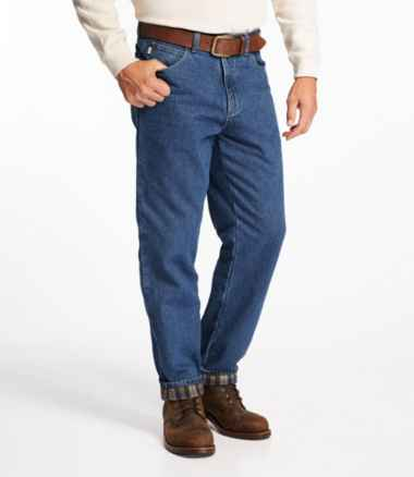 Men's Double L® Jeans, Flannel-Lined Natural Fit