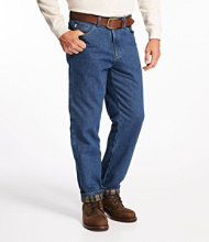 Double L Jeans, Flannel-Lined Natural Fit
