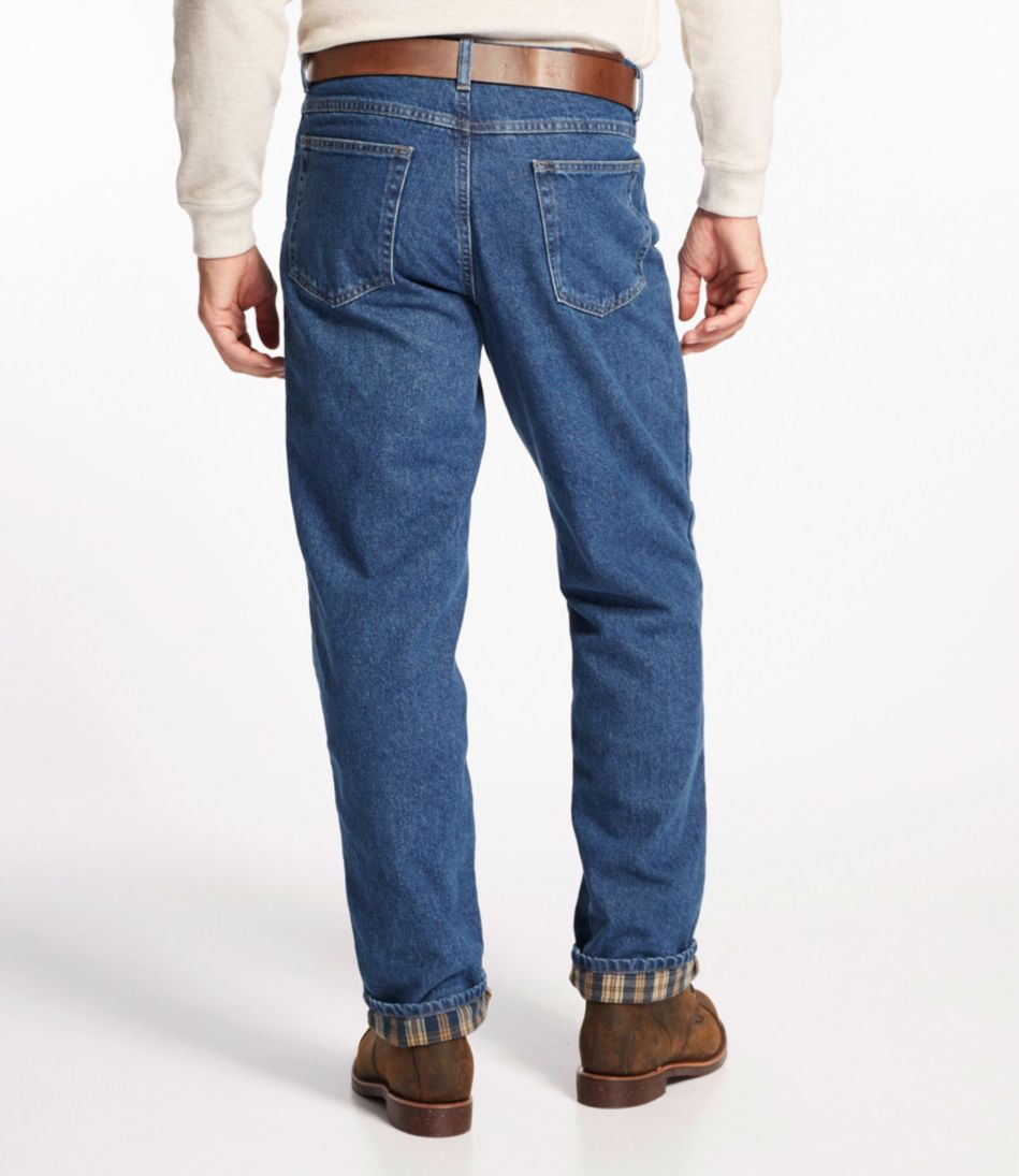 Double L® Jeans, Flannel-Lined Relaxed Fit