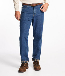 Men's Double L Jeans, Flannel-Lined Relaxed Fit