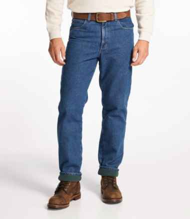 Men's Double L® Jeans, Fleece-Lined Classic Fit