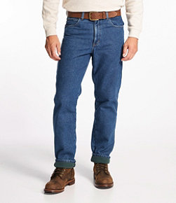 Men's L.L.Bean Double L Jeans, Fleece-Lined Classic Fit