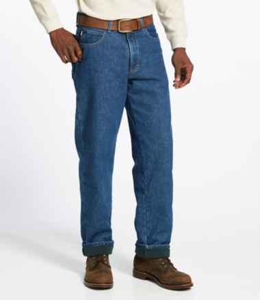 Men's Double L® Jeans, Fleece-Lined Relaxed Fit