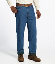 Double L Jeans, Fleece-Lined Relaxed Fit