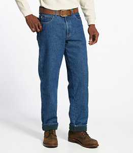 Men's Double L Jeans, Fleece-Lined Relaxed Fit