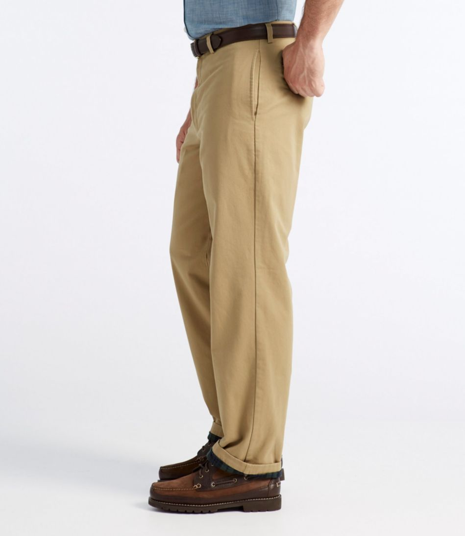 Lined Double L® Chinos, Natural Fit Plain Front