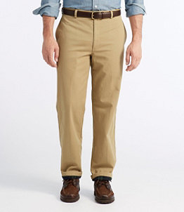 Men's Lined Double L Chinos, Natural Fit Plain Front
