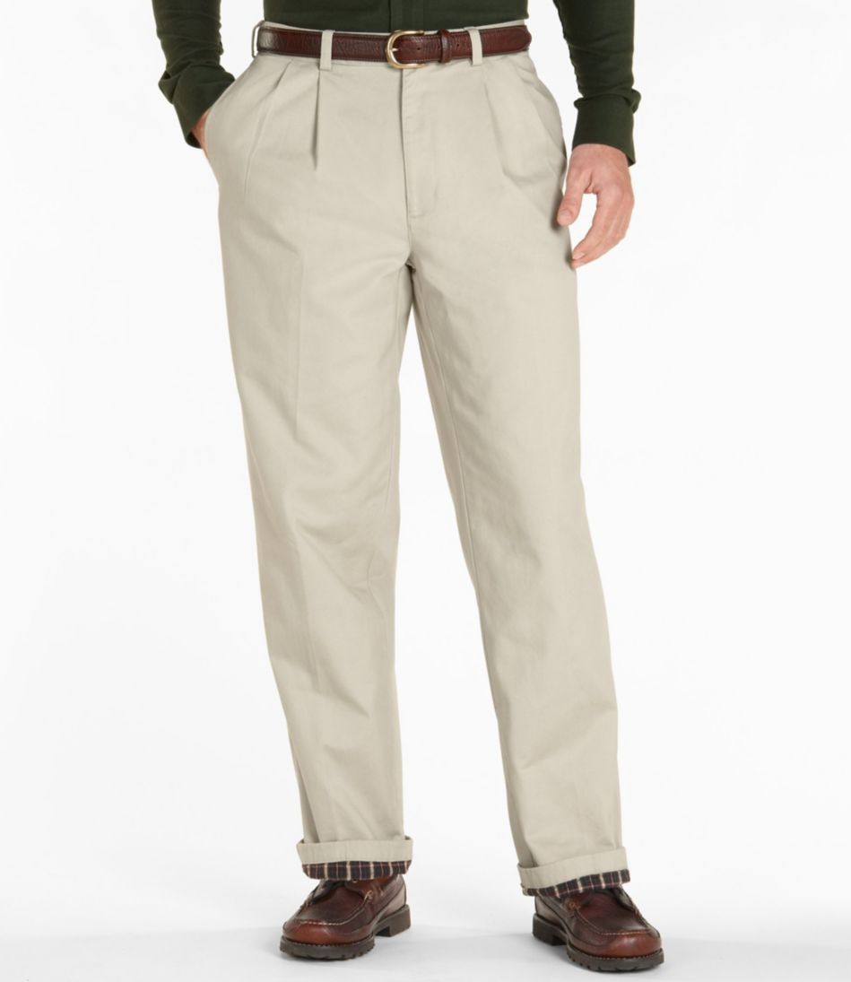 Lined Double L® Chinos, Natural Fit Pleated