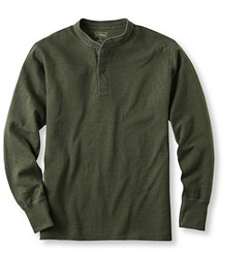 Men's Two-Layer River Driver's Shirt, Traditional Fit Henley