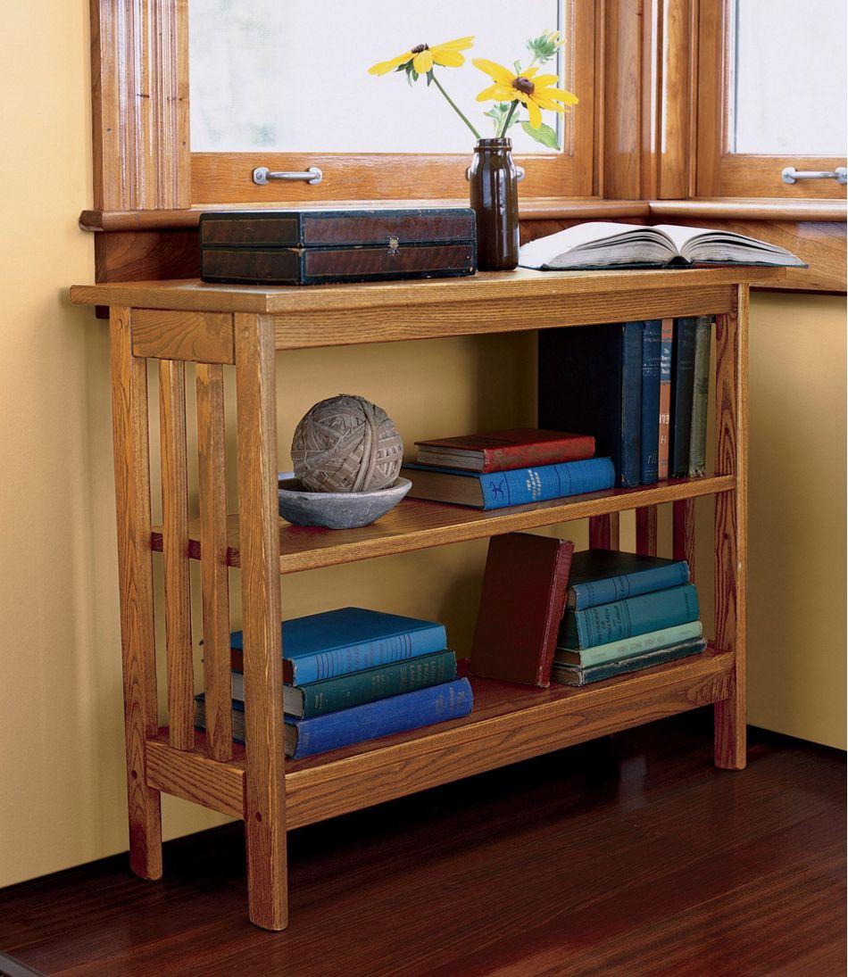 Mission Under Window Bookshelf