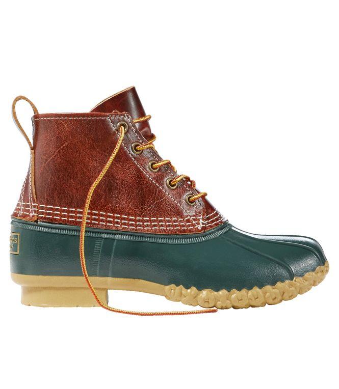 """LL Bean Women's 6"""" Bean Boots (British Tan/Deepest Pine/Gum)"""