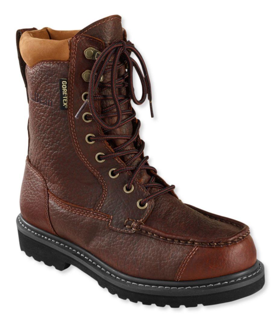 Mens Gore Tex Kangaroo Upland Boots Moc Toe Leather D Island Shoes Motif England Low Canvas Merah