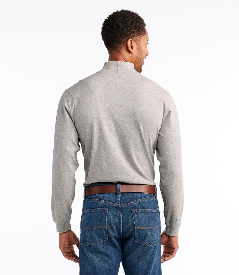 Men's Interlock Mock-Turtleneck, Traditional Fit