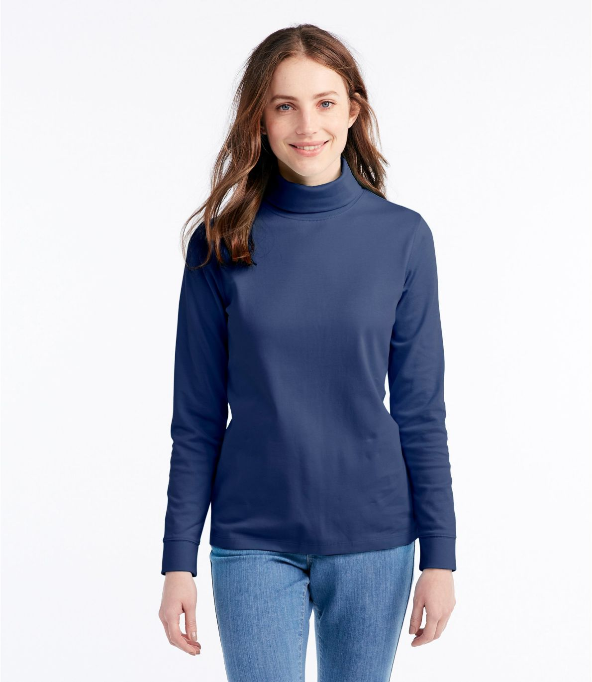 Women's L.L.Bean Interlock Turtleneck, Long-Sleeve