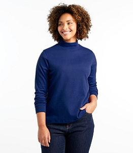 Women's L.L.Bean Interlock Mock-Turtleneck, Long-Sleeve