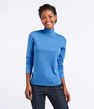 L.L.Bean Interlock Mock-Turtleneck, Long-Sleeve
