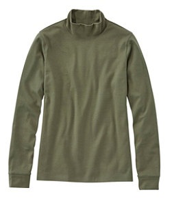 Women's L.L.Bean Interlock Mock-Turtleneck, Long-Sleeve