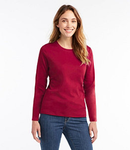 Women's L.L.Bean Tee, Long-Sleeve Crewneck