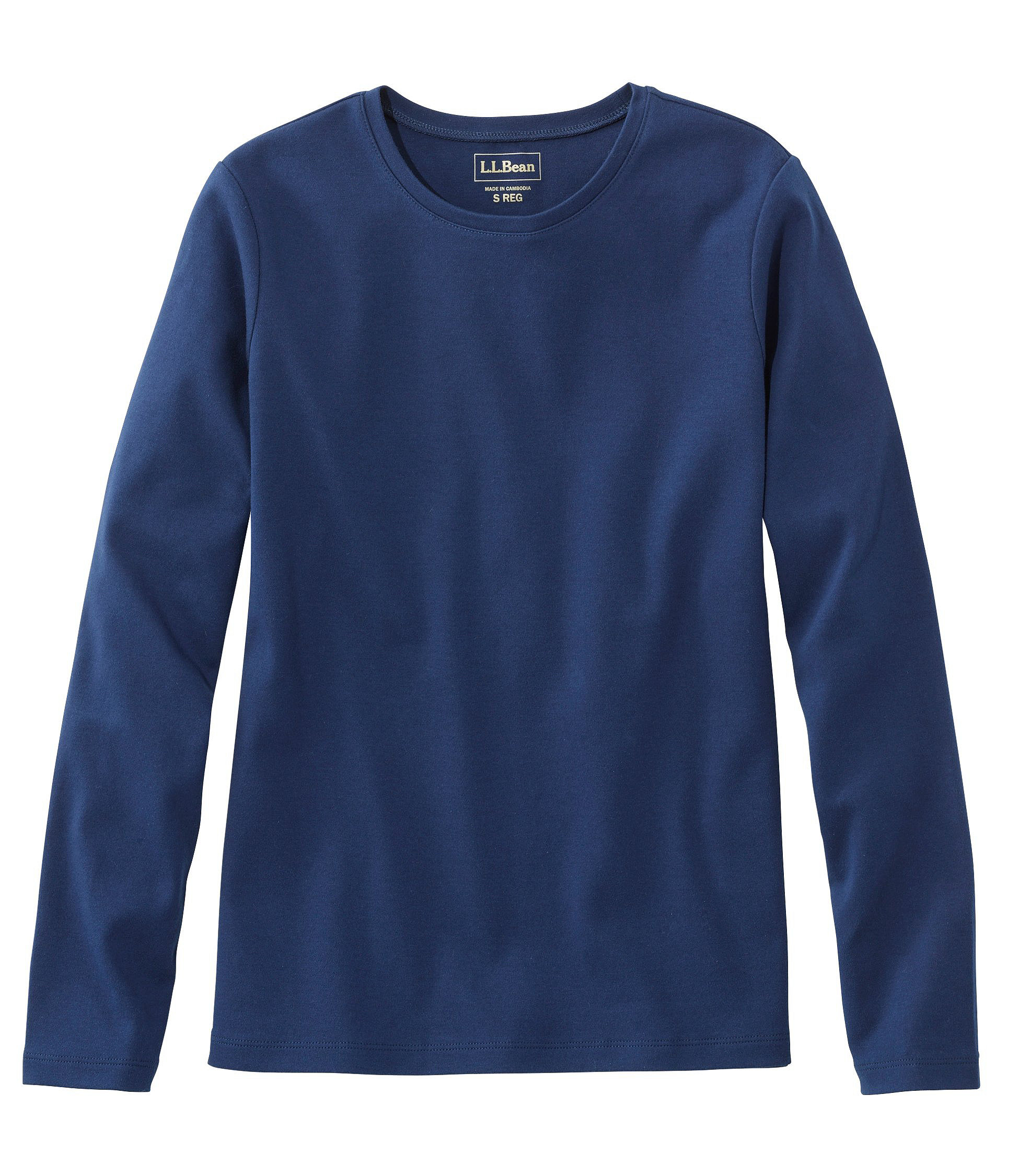 L.L.Bean Tee, Long Sleeve Crewneck by L.L.Bean