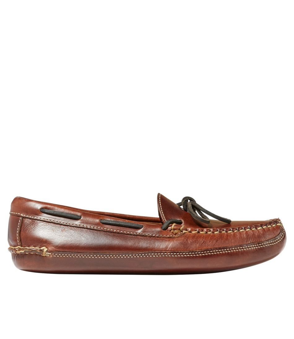 Men's Leather Double-Sole Slippers, Leather-Lined