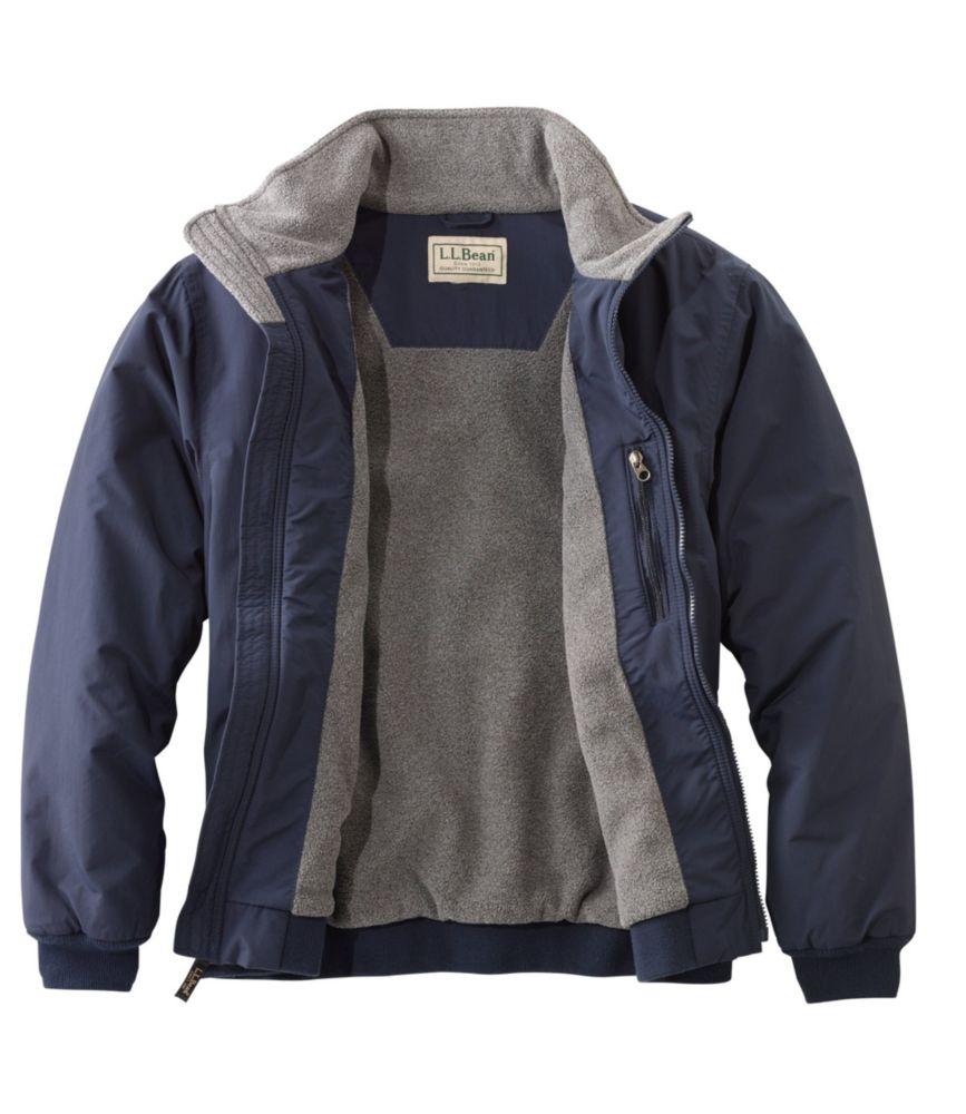 Men's Warm Up Jacket, Fleece Lined
