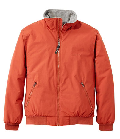 Men's Warm-Up Jacket, Fleece Lined | Free Shipping at L.L.Bean