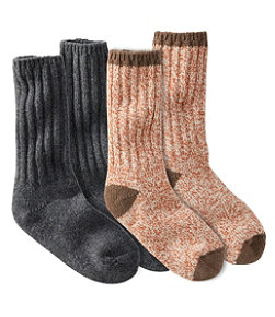 "Adults' Merino Wool Ragg Socks, 10"" Two-Pack"