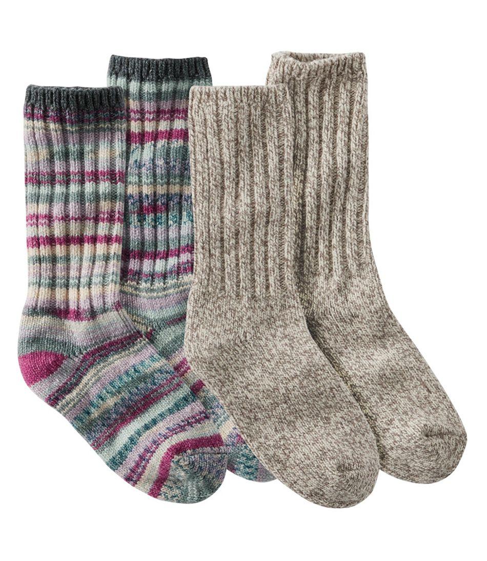 "Adults' Merino Wool Ragg Socks, 10"" Two-Pack"