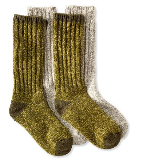 2-Pk Merino Wool Ragg Socks 12""