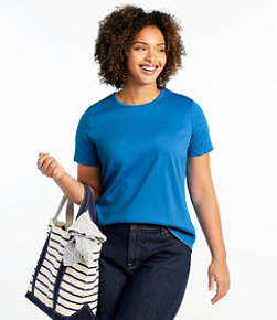 Women's Pima Cotton Tee, Short-Sleeve Crewneck
