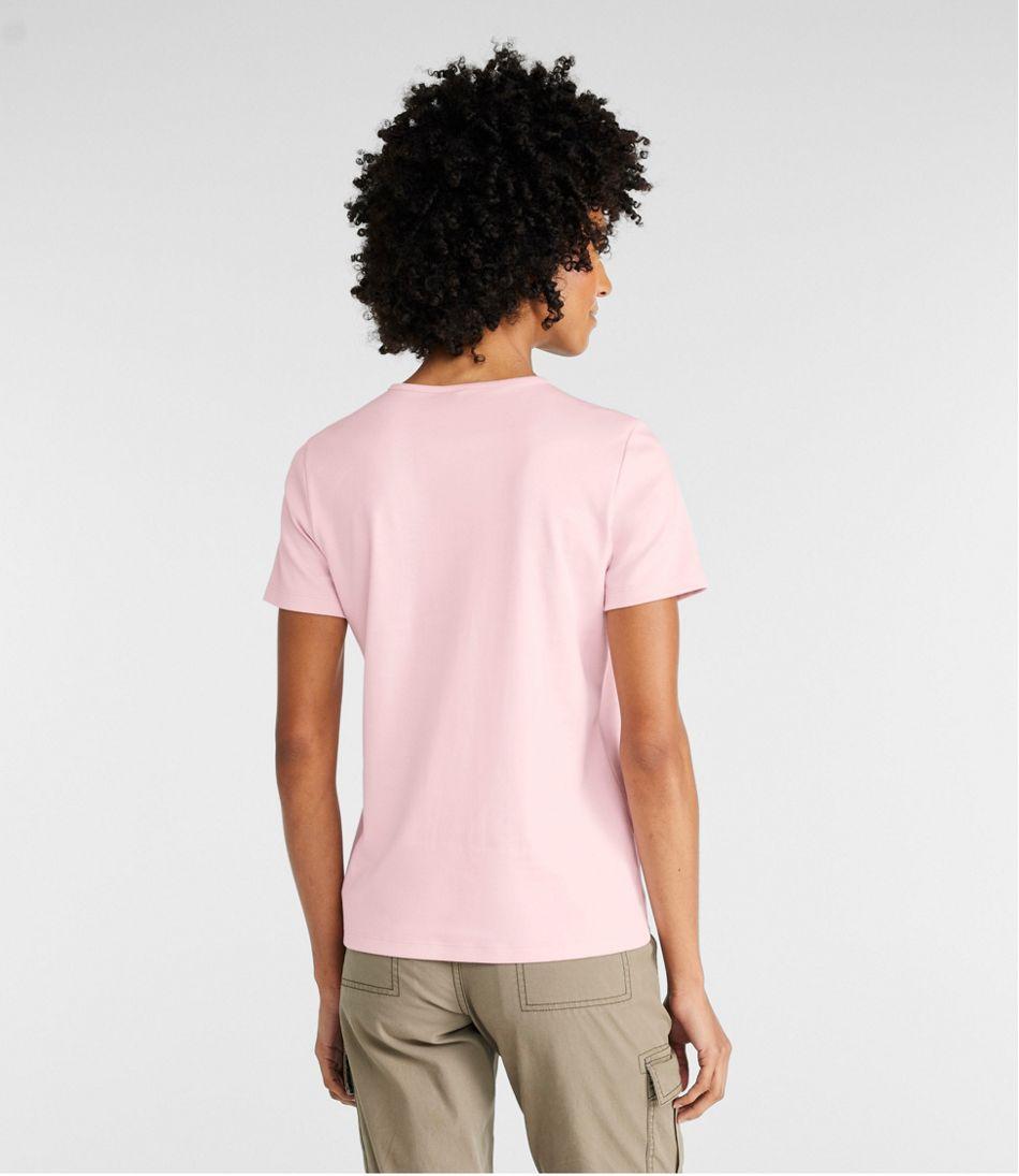 Women's Pima Cotton Tee, Short-Sleeve Crewneck