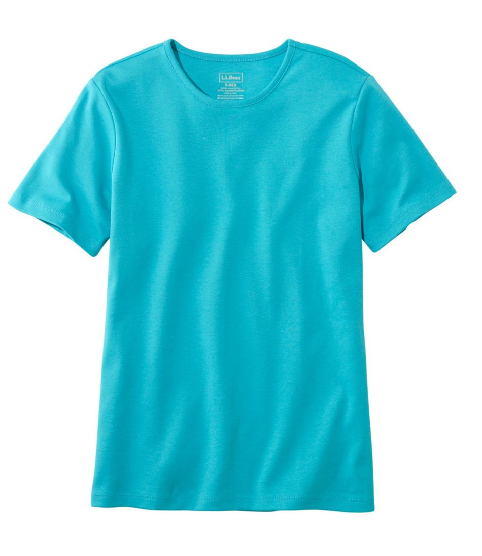 7ce50fe05c32 Women's Pima Cotton Tee, Short-Sleeve Crewneck