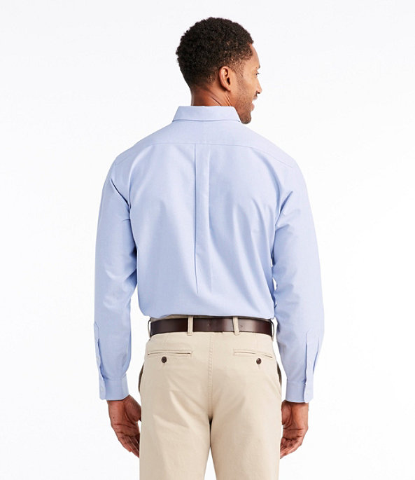 Men's Wrinkle-Resistant Classic Oxford Cloth Shirt, Neck Sizes, White, large image number 2