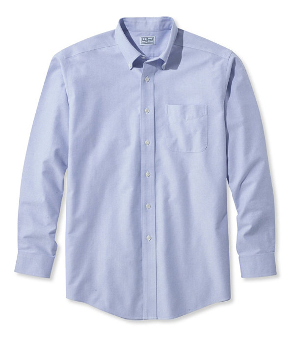 Men's Wrinkle-Resistant Classic Oxford Cloth Shirt, Neck Sizes, White, large image number 3