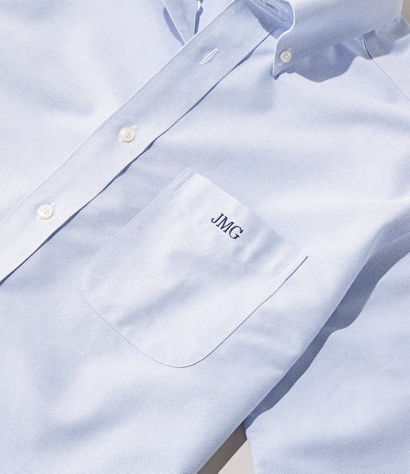 Men's Wrinkle-Resistant Classic Oxford Cloth Shirt, Neck Sizes, White, large image number 4