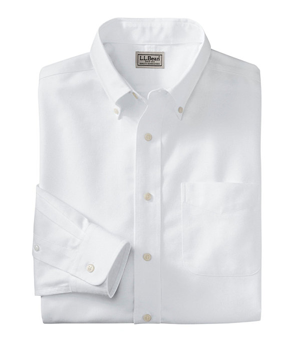 Men's Wrinkle-Resistant Classic Oxford Cloth Shirt, Neck Sizes, White, large image number 0