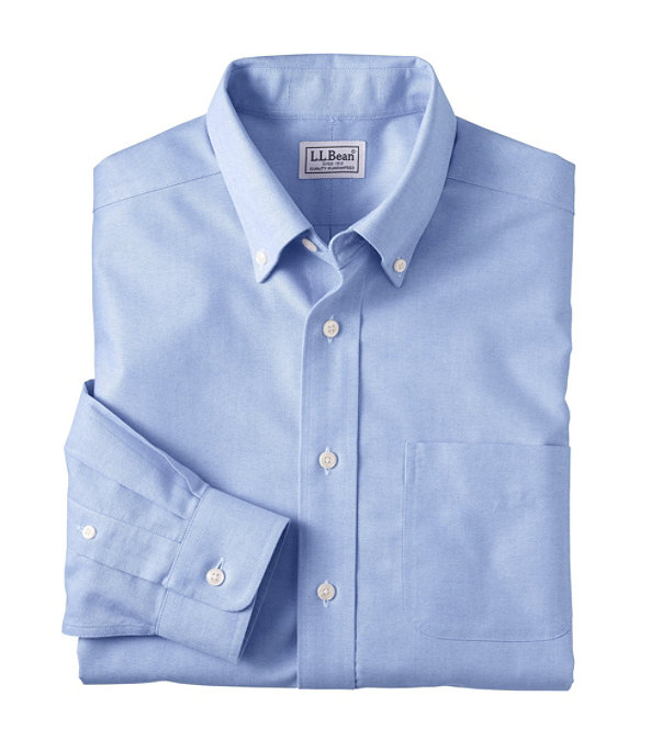 Men's Wrinkle-Resistant Classic Oxford Cloth Shirt, Neck Sizes, French Blue, large image number 0