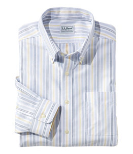 Men's Wrinkle-Free Classic Oxford Cloth Shirt, Traditional Fit University Stripe