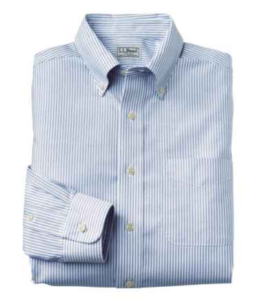 Wrinkle-Free Classic Oxford Cloth Shirt, Traditional Fit University Stripe