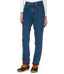 Women's Double L Jeans, Relaxed Fleece-Lined