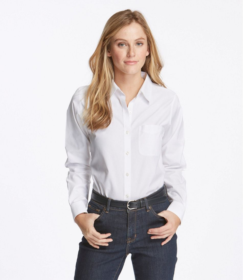 32caf76f6ff61 Women s Wrinkle-Free Pinpoint Oxford Shirt
