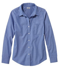 Wrinkle-Free Pinpoint Oxford Shirt, Long-Sleeve